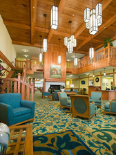 Lobby of Spring Mill Senior Living at Coldstream Crossing