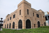 Exterior shot of the restored Power House in the Bronx Terminal Market