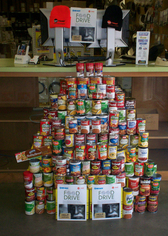 Collecting Canned Goods For the Food Bank