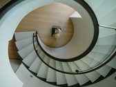 Residential Spiral Bronze Staircase
