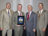Building Team Accepting Award From Texas Construction for Best Worship Project