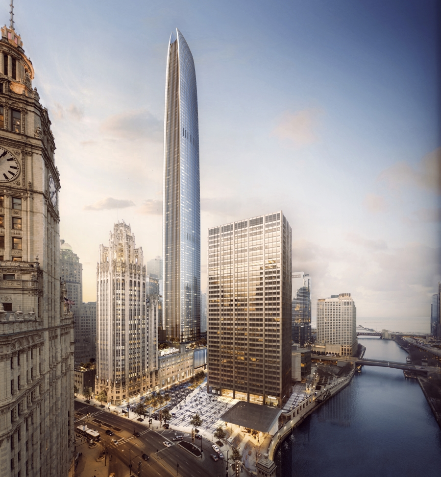 Tribune Tower Redevelopment Would Also Add Chicago's Second-Tallest Building