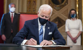 Biden signs cabinet nominations at US Capitol