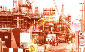 artsy rendering of a construction site