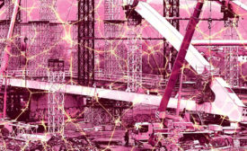 artistic rendering of a construction site