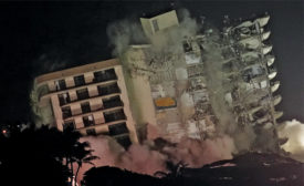 implosion of remaining Champlain tower