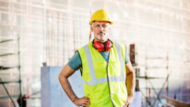 man in construction PPE