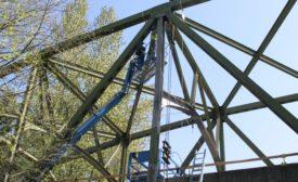 White River Bridge repair work