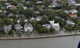 Hurricane Matthew caused flooding in Charleston in October 2016