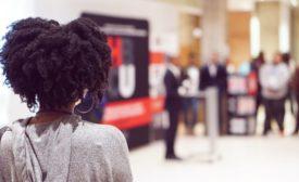 A Black student attends an HBCU leadership event
