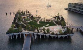 Little Island pier Hudson River New York park
