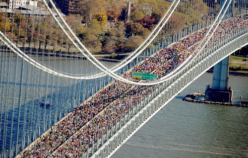 NY Marathon on Verrazano Bridge