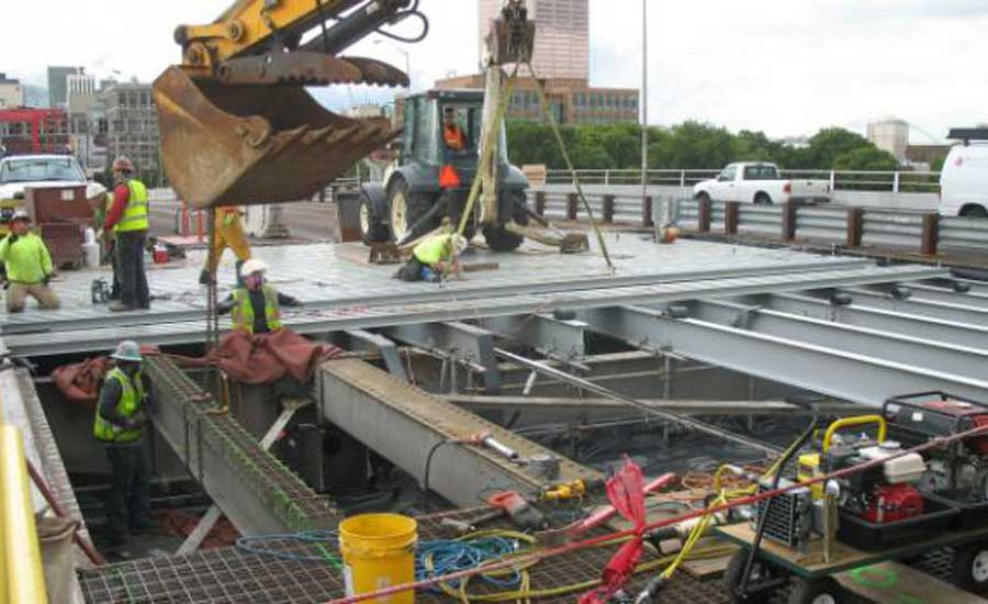Morrison bridge deck replacement underway in portland for Northwest construction