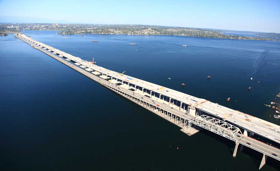 world s longest floating bridge earns award on first