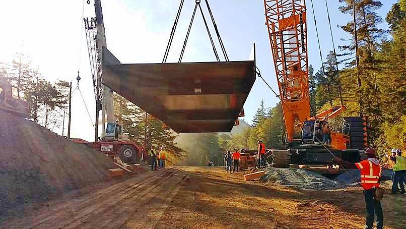New big sur replacement bridge taking shape 2017 08 03 enr canyon bridge malvernweather Gallery