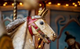 Carousel Horse with Chipped Paint