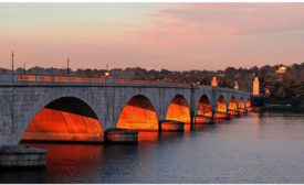 Memorial Bridge at night