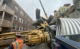 Collapsed Drill Rig