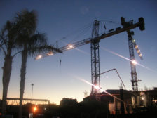 Crane at Night 2