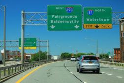 I-81 I-690 interchange Syracuse New York