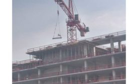 The Zachary Hotel is topped out