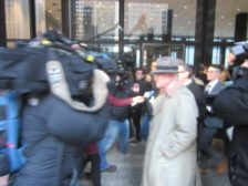 Alderman Ed Burke leaves the Dirksen Federal Courthouse in Chicago