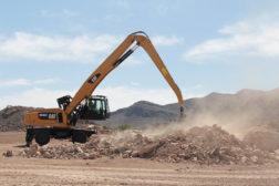 Excavator Working Rock