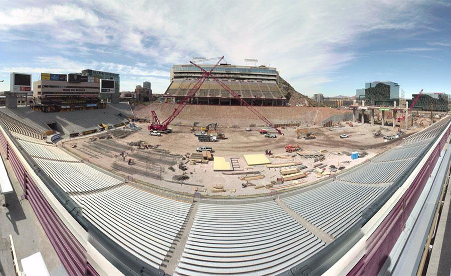 phase 2 of sun devil stadium renovation is well underway 2016 02 24 enr