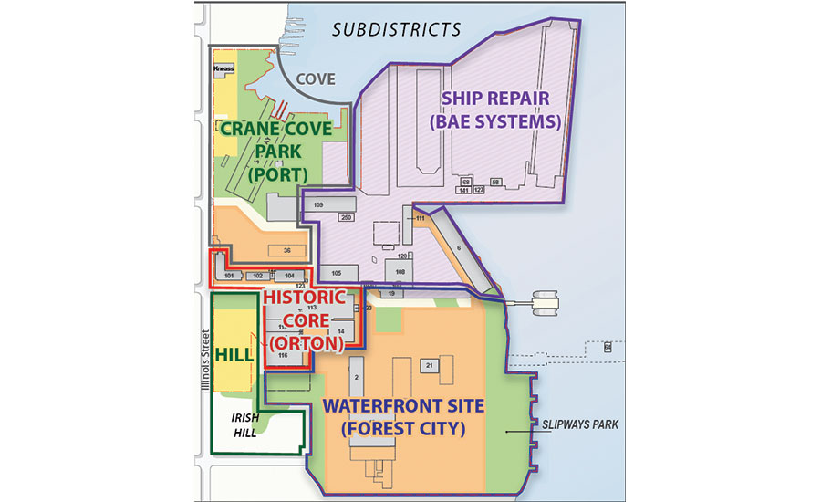 map of efforts at Pier 70