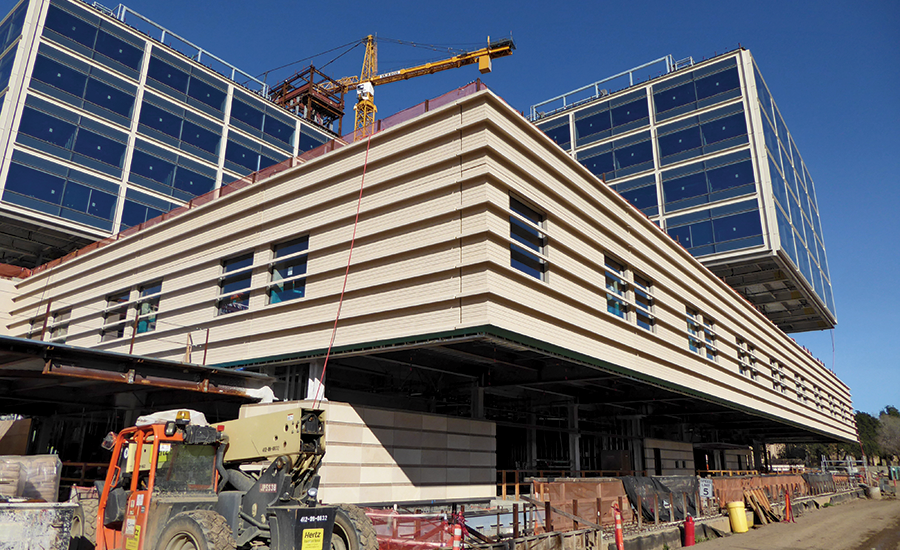 Stanford University Medical Center >> Cantilevers Base Isolation Add Complexity To Stanford