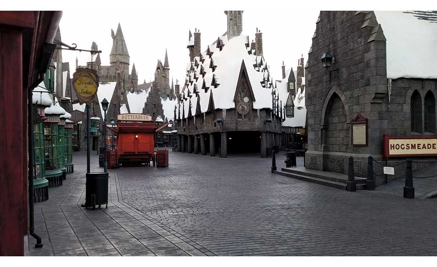 Harry Potter theme park throughway