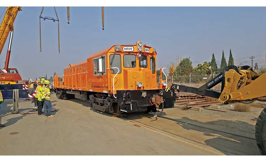 800-ft-long customized work train