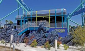 SeaWorld's Electric Eel Roller Coaster
