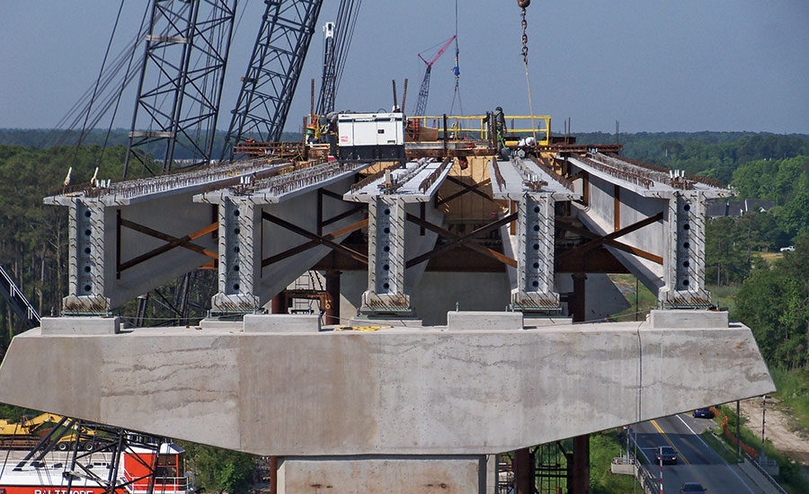 Dominion Blvd's nine bridges require hundreds of precast girders