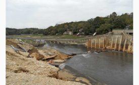 Lake Delhi dam reconstruction