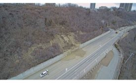Columbia Parkway's road surface