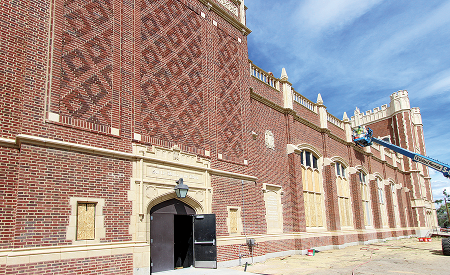 Natrona County High School brick and terra-cotta exterior