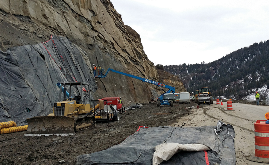 S.H. 133 Paonia Resevoir rockfall mitigation