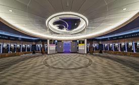 Vanier Family Football Complex locker room
