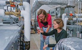 rooftop HVAC unit in Larson Laboratory at CU Boulder