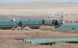 Staging area for the Keystone XL pipeline