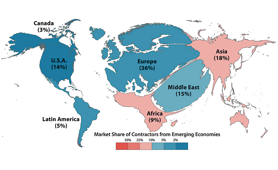 How Global Are The Worlds Largest Contractors 2015 12