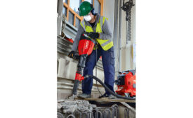 Hilti breaker includes dust-removal