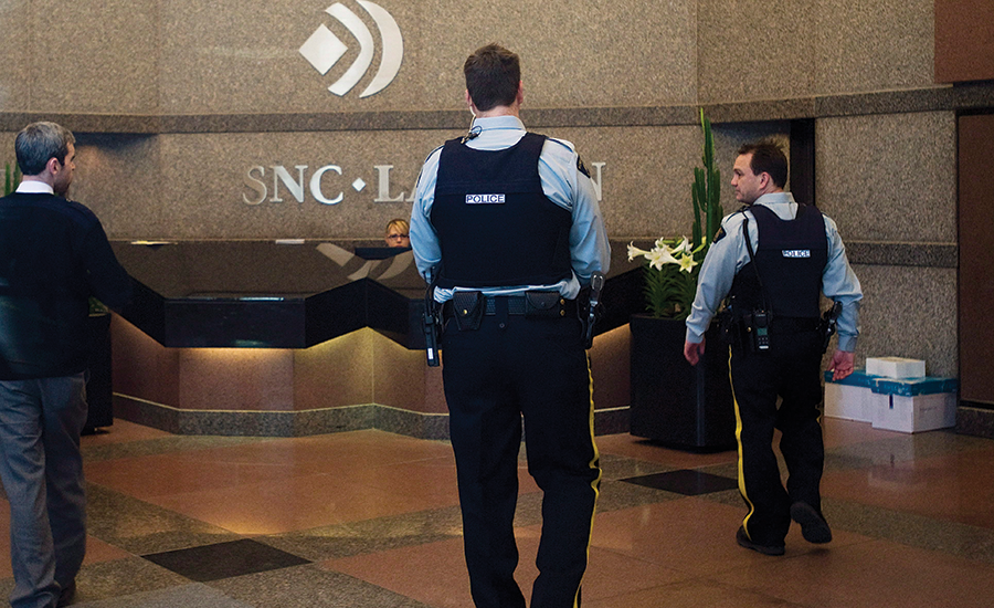 Canadian police raided SNC-Lavalin headquarters