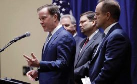 Bill Schuette at news conference