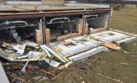 School damaged in tornado