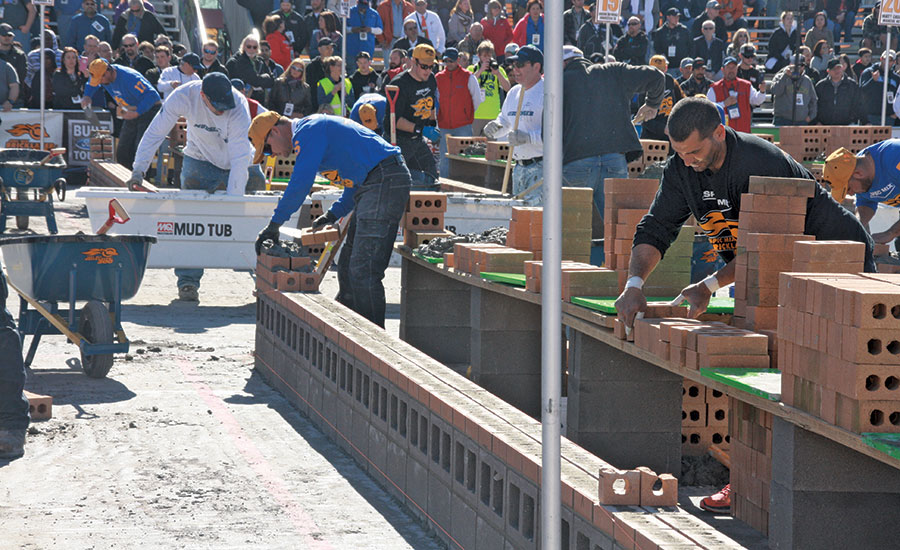 Worlds Best Bricklayer contest