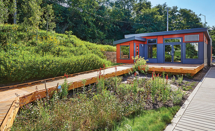 Modular classroom at Phipps Conservatory