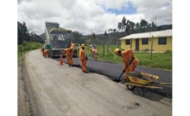road construction in Colombia