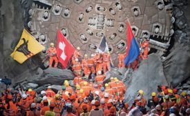 Swiss rail tunnel opens